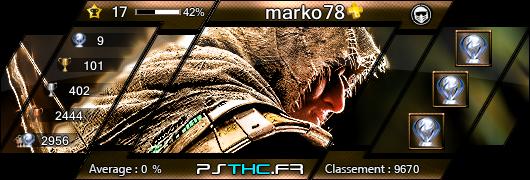 Trophées de marko78